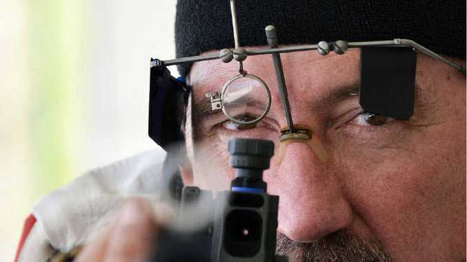 FOCUS: Shane Jones placed seventh in the 50-metre Prone Rifle event at the Target Rifle Australia National Championships.