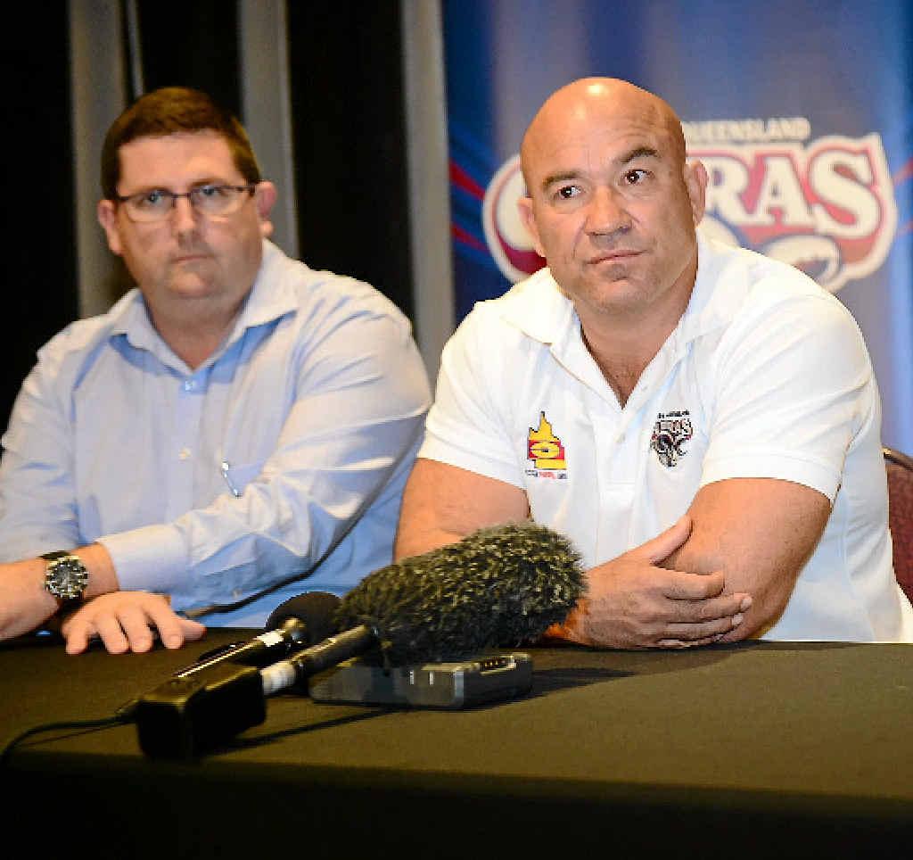 PERSONAL REASONS: CQ Capras ex-coach Jason Hetherington announces his resignation alongside operations manager Brendan Bowers.