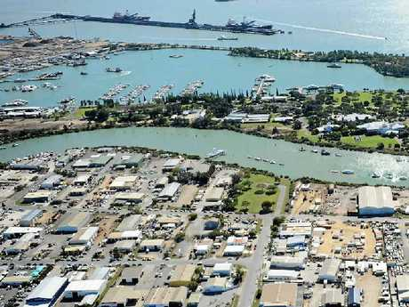 An aerial view of Gladstone.