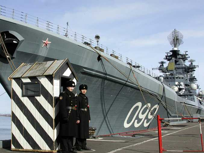 The flagship of Russia's Nothern Fleet, heavy nuclear missile cruiser 'Pyotr Veliky'