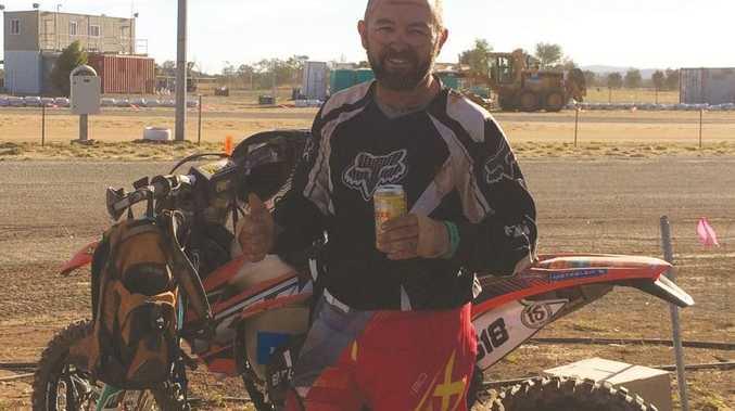 Chinchilla dad Travis John Mitchell was killed when his motorbike hit a tree near Chinchilla on April 12.