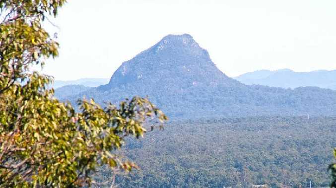 SUMMIT RESCUE: Looking towards Cooroora from the top of Mt Tinbeerwah.