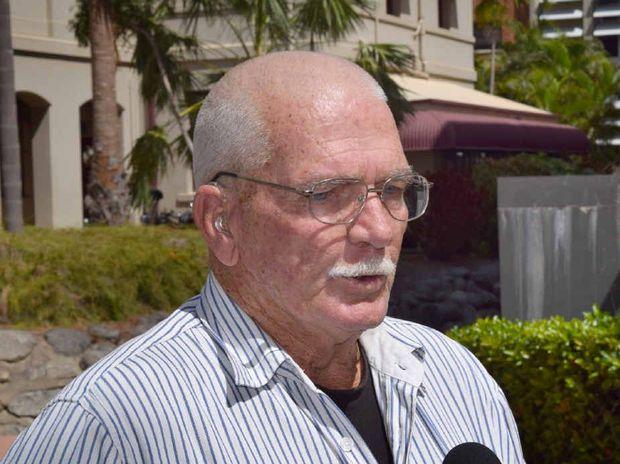SPEAKING UP: Former Neerkol resident Allan Allaway speaks to Rockhampton and Brisbane media.