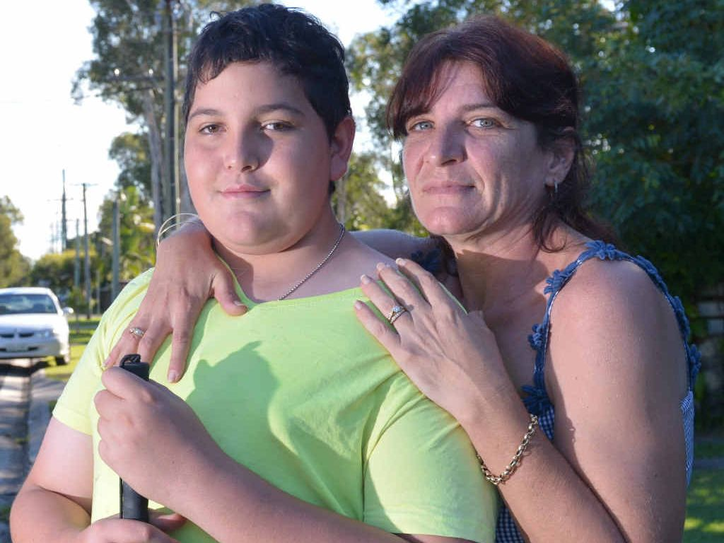 SAFELY HOME: Melissa Norquay is concerned her son James got into a car with a stranger.