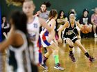 Division 1 teams from Ipswich and Toowoomba battle it out at the Queensland U14 Basketball Championships at Ipswich Basketball Stadium. Arielle Mackey. Photo: David Nielsen / The Queensland Times