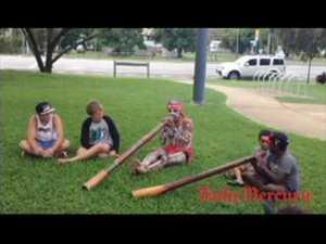 Didgeridoo playing in Sarina for National Youth Week