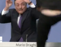Protester attacks Mario Draghi during ECB conference