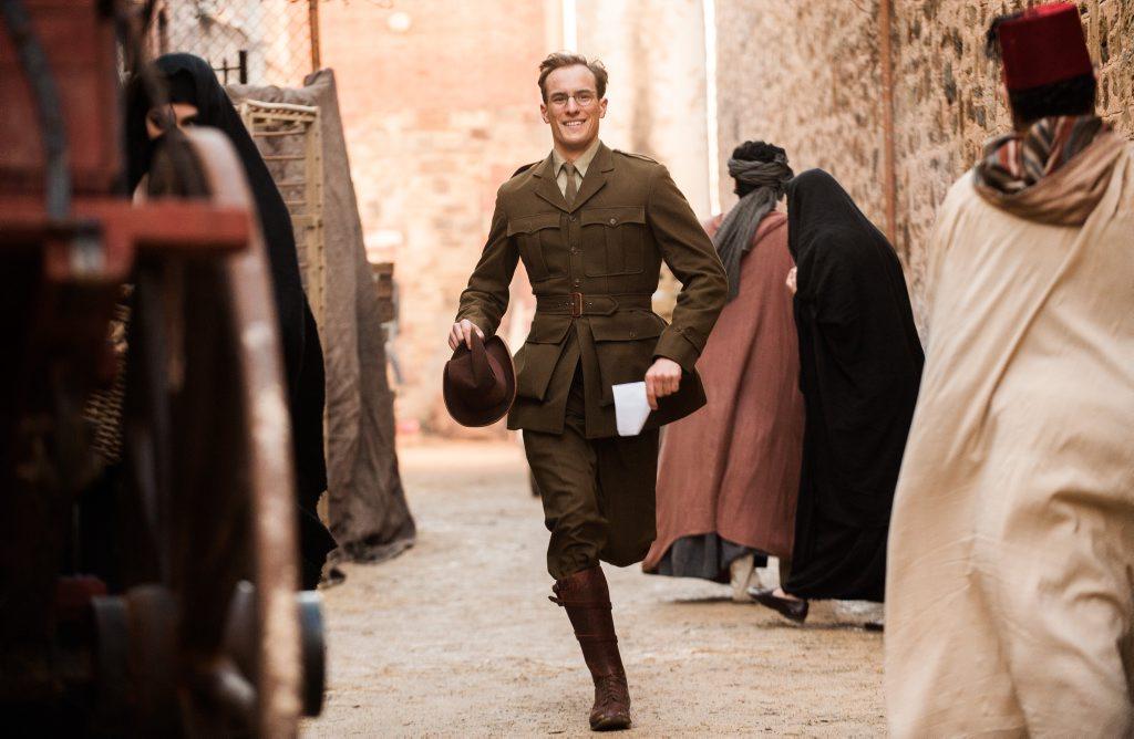 Joel Jackson stars as Charles Bean in a scene from Deadline Gallipoli.
