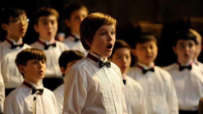 Garrett Wareing in a scene from the movie Boychoir.