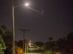 Warrego Hwy lit up with brighter lights for safety