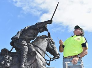 Light horse statue bayonet replaced