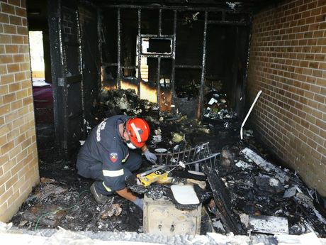 Inside the Garden City Mosque after last week's arson attack.