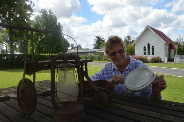 President Roslyn Gregor of Ringsfield House gets ready for the garage sale. Photo Rhiannon Tuffield / South Burnett Times