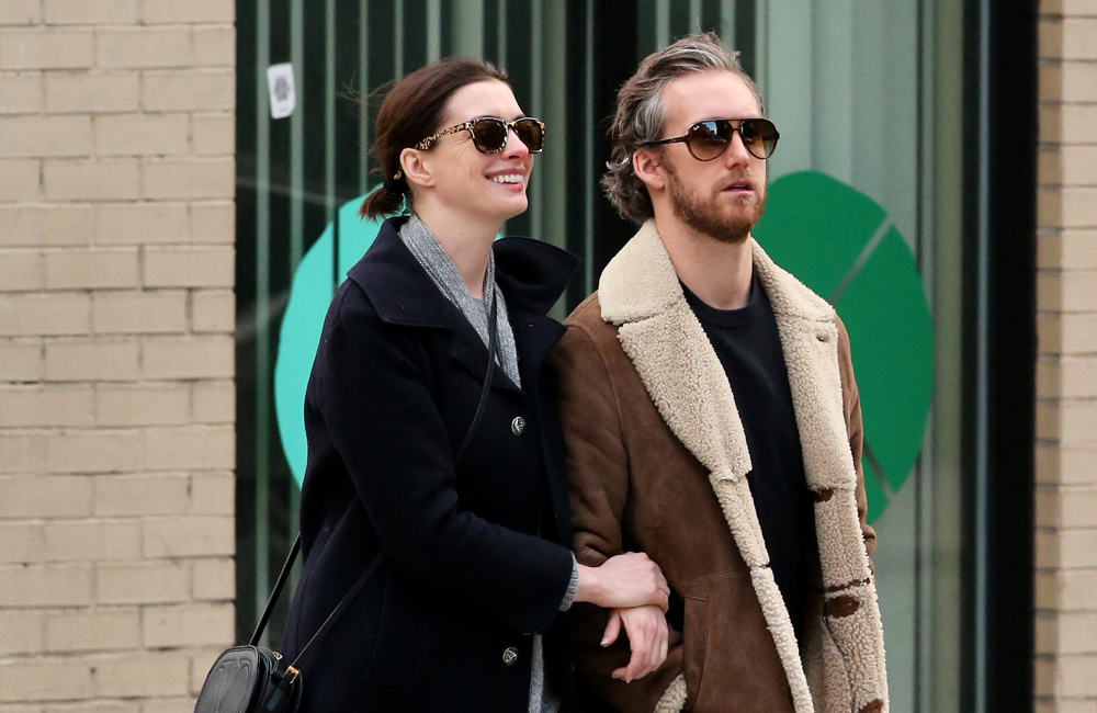 Anne Hathaway and Adam Shulman.