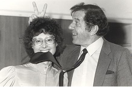 Australian Democrat Senator Janine Haines and founder Don Chipp in 1977.