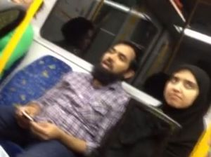 Sydney woman defends Muslim couple from racist on train