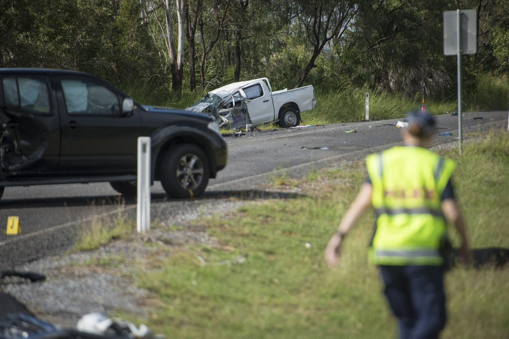 Police are investigating the cause of a serious crash this morning which has left one man with serious head injuries.