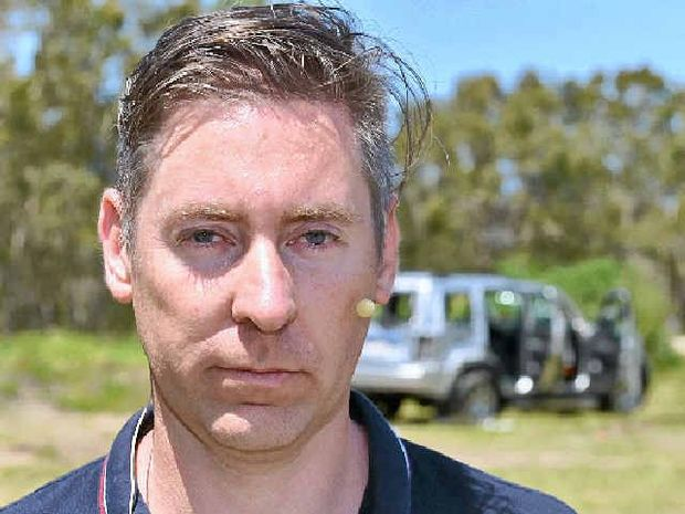 DESTROY MY JEEP: Ashton Wood readied his Jeep for destruction to highlight the need of vehicle 'lemon laws'.