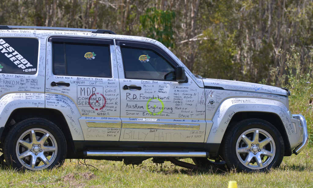 destroyed his Jeep to raise awareness of the necessity for vehicle lemon laws.
