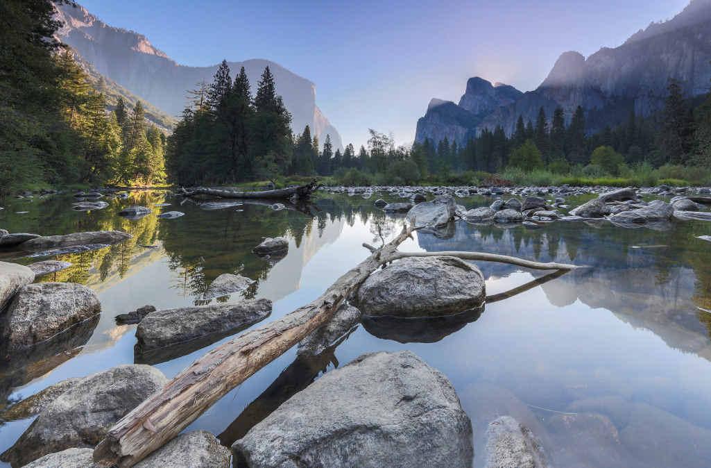 WINNER: Michael Baynes' winning photo, Sunrise at Yosemite National Park, US.