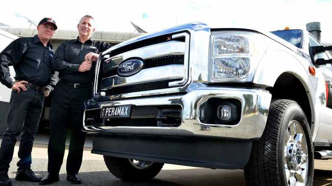 STRONG BUYER BACKING: Greg Waters and GM Glenn Soper from Performax in Gympie.