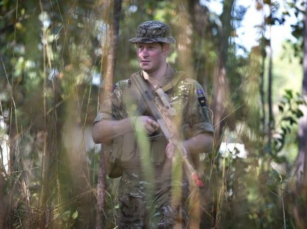 Captain Harry Wales in the bush as part of his deployment with the Australian Defence Forces. Picture: Kensington Palace
