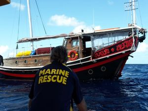 19 hour rescue at sea off Fraser Island