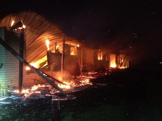 HOUSE FIRE: A home in Avondale destroyed by fire early Sunday Morning. Photo by Nathanael Tregenza. Photo: contribute