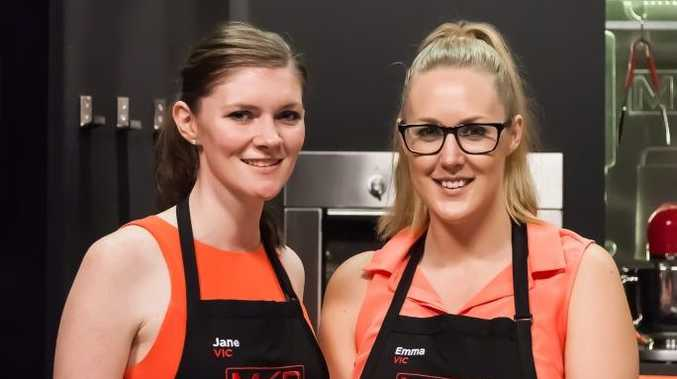 My Kitchen Rules contestants Jane and Emma.