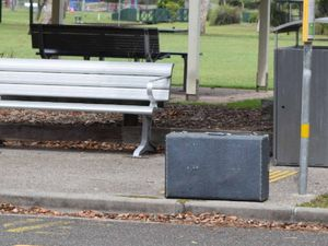 Abandoned, vintage suitcase cause causes stir at bus stop