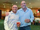 Brad Egg and Andrew Robertson at the Yaralla cricket club awards night.