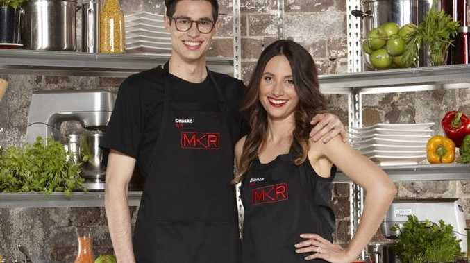 My Kitchen Rules contestants Drasko and Bianca.