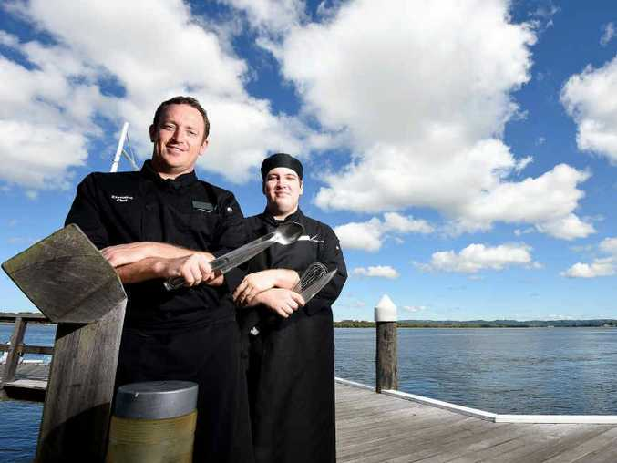 COOKING WITH GAS: Ballina RSL executive chef Blake Seymour and chef de partie Bradley Baldwyn are excited about making the finals of this year's Chef's Table Competition.