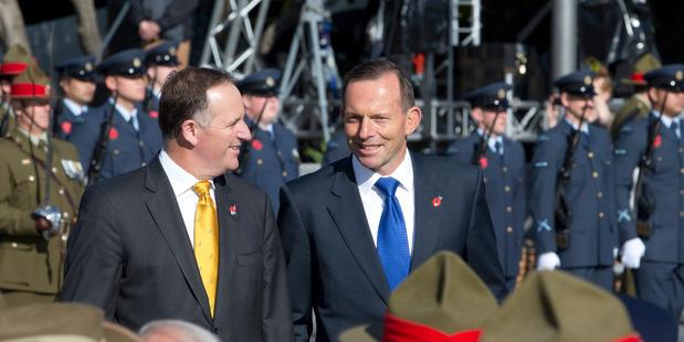 New Zealand Prime Minister John Key and Australian Prime Minister Tony Abbott.