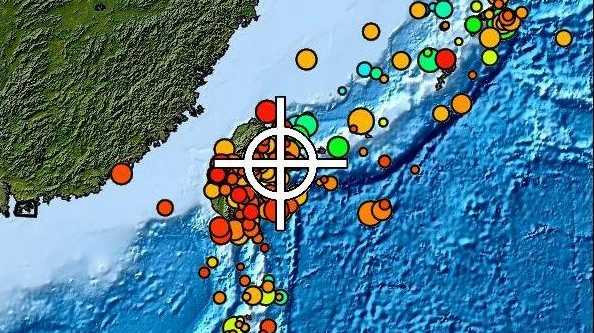 An image released from the Pacific Tsunami Warning Centre, after earthquake struck on the waters off the south-western Ryuku Islands off Japan.