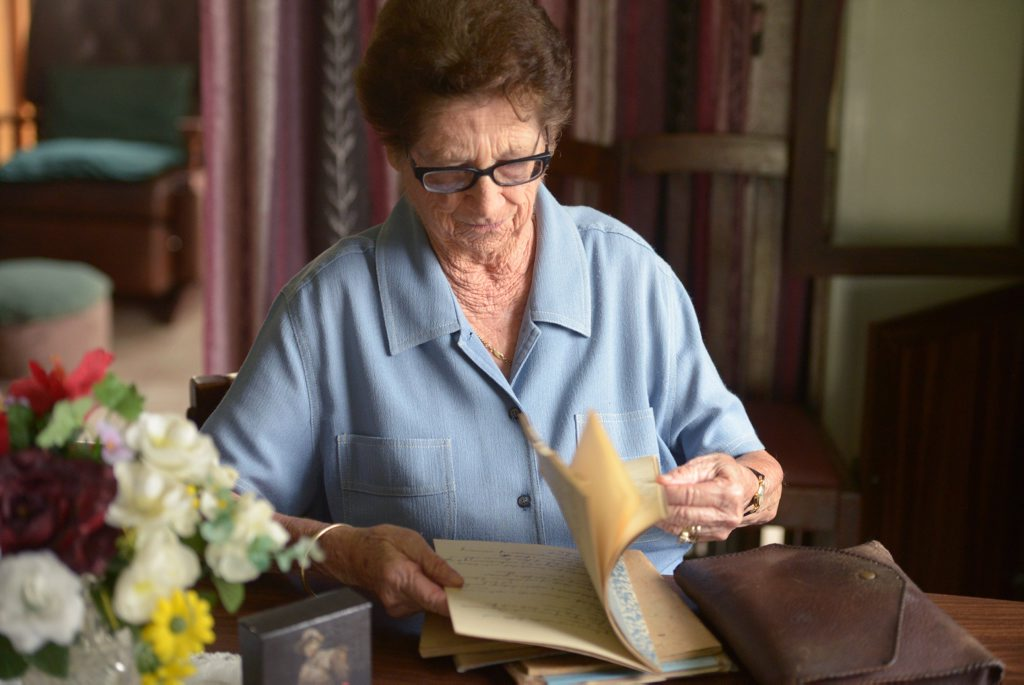 LOOKING BACK: Alice McArthur reflects upon her life during the Second World War. Photo: Max Fleet / NewsMail
