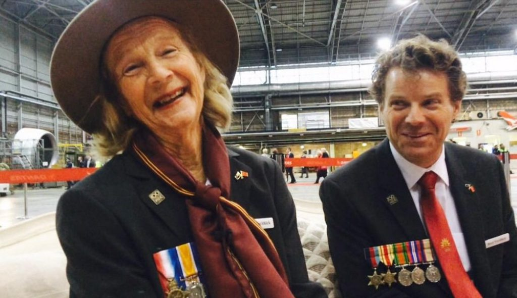 Brooklet woman and First World War veteran's widow Valarie Trevithick and her son Boyd Trevithick prepare for a trip with nine other widows to Gallipoli for the Anzac Centenary. Photo Chris Calcino