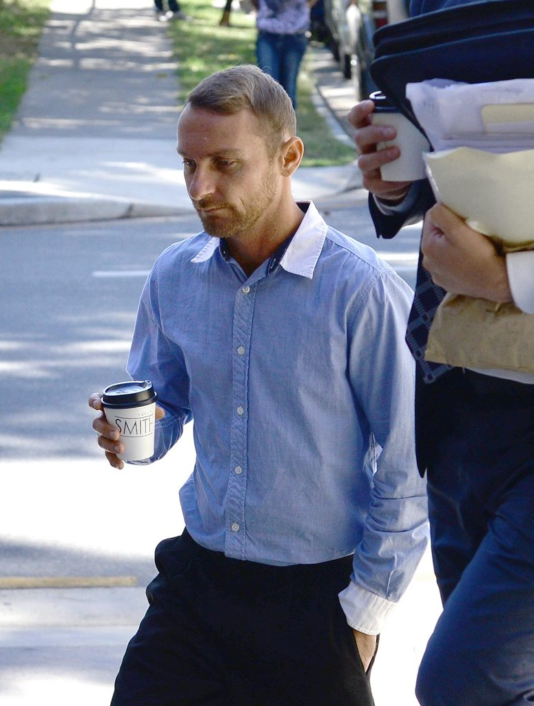 Anthony Ronald Lancaster arrives at Ipswich Court on Tuesday. Photo: Rob Williams / The Queensland Times