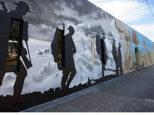 Diggers march on new Woolgoolga mural