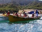 TRIBUTE RACE: The Gallipoli 100 Surfboat Race will finish at Anzac Cove in the early hours of tomorrow morning AEST.