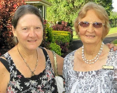 GARDENERS: Gayle Robinson and Jan Daly.