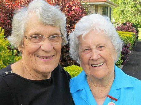 GREEN THUMBS: Lesley Notley and Betty Cockburn.