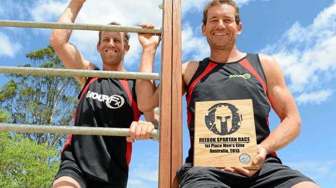 RIGHT: Brothers Glen and Tony Curtis. They finished first and second respectively in the elite division of the Spartan sprint race in Perth.