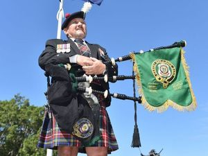New kit gives pipe band a fresh look for Anzac Day