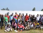 NEW SKILLS: Cathy Booth sits with the group of Kenyan trainees and volunteer. Photo Contributed