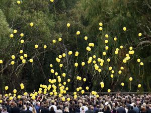 Balloons released as Stephanie Scott farewelled