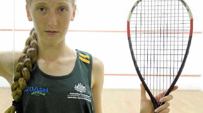 WELL PLAYED: Squash champion Laura Moloney will be jet-setting to New Zealand to represent her country in the Oceania Championships. PHOTO: MATTHEW ELKERTON