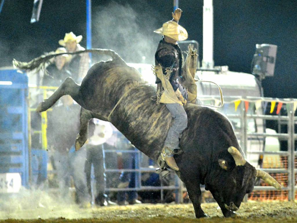 FAVOURITE: Sam Champ, from Meldale, Queensland, is expected to be a standout performer in the bull ride at the Alstonville Rodeo on Anzac Day.