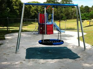 Cedric Archer Park new playground equipment works start