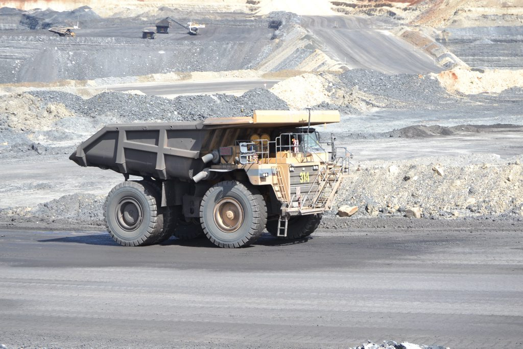 A coal truck at New Hope Group's Acland coal mine. Photo Jim Campbell / Chinchilla News